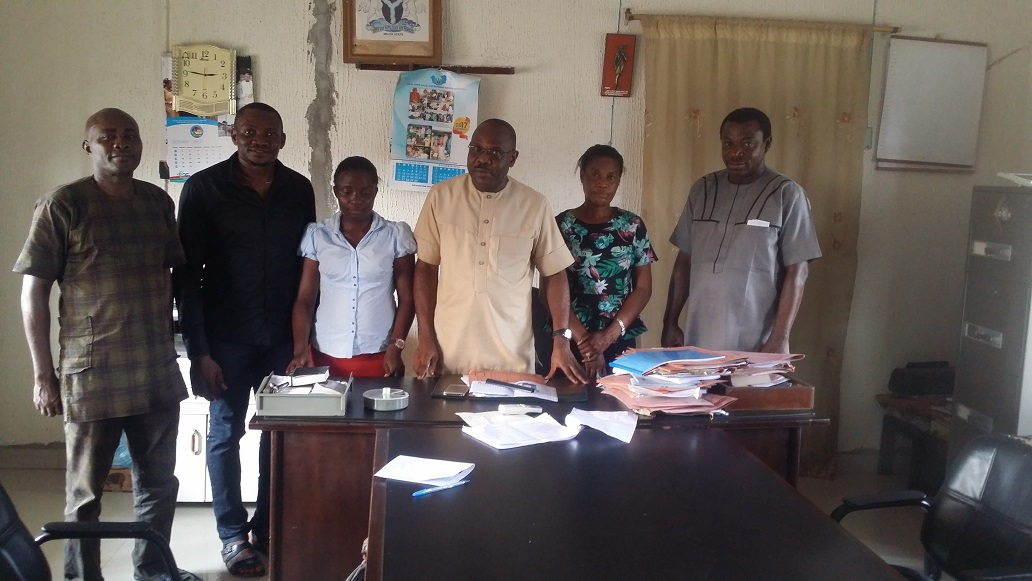 ICD team Group photo with Isoko South Acting Chairman and The LGA WASHUnit Heads